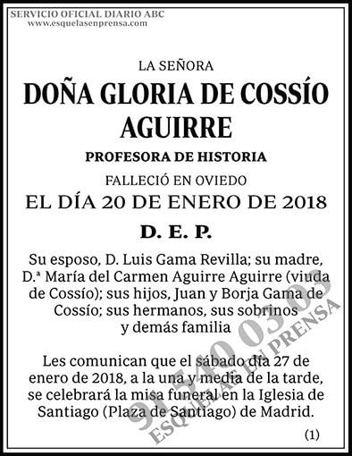 Gloria de Cossío Aguirre